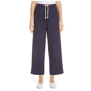 Sara Lanzi Navy Blue Wide Leg Baggy Pants